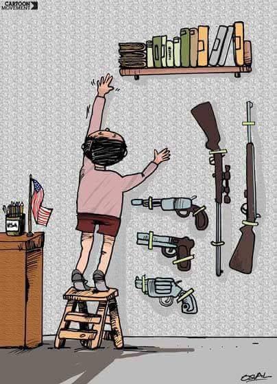 Resultado de imagem para livros armas e crianças charge